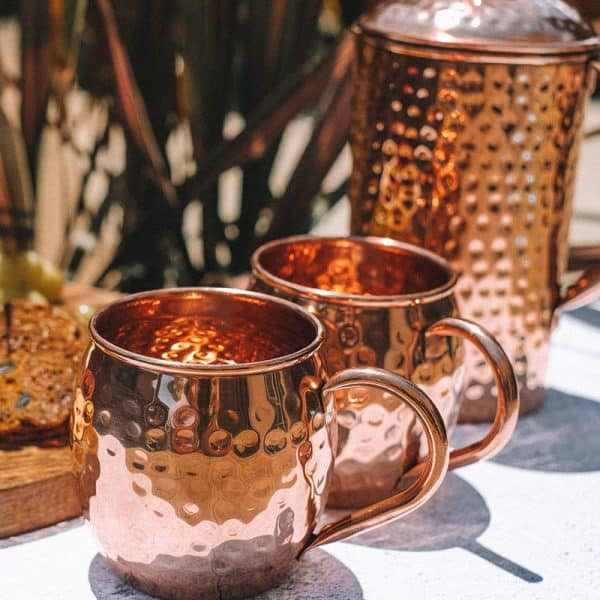Copper Mugs and Water Jug