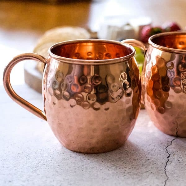 Pure Copper Hammered Mugs